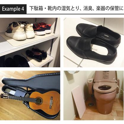 下駄箱・靴無いの湿気とり、消臭、楽器の保管に